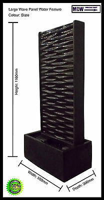 Fountain, Water Feature: Large Wave Panel Water Feature - Slate