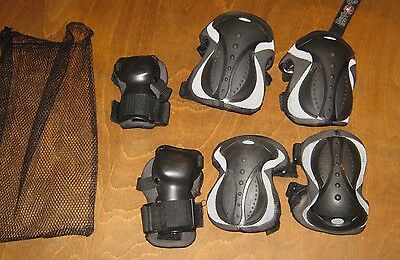 Black Knee, Wrist And Elbow Protection Teenage/adult