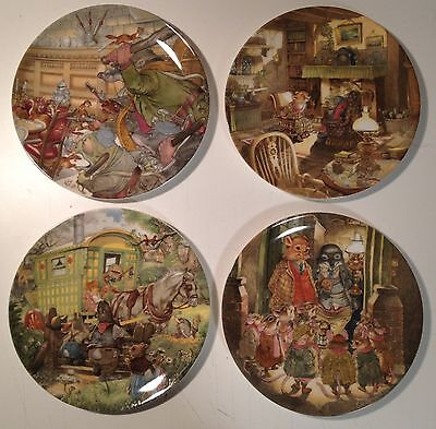 Wedgwood Collector Plates X 4 Wind In The Willows