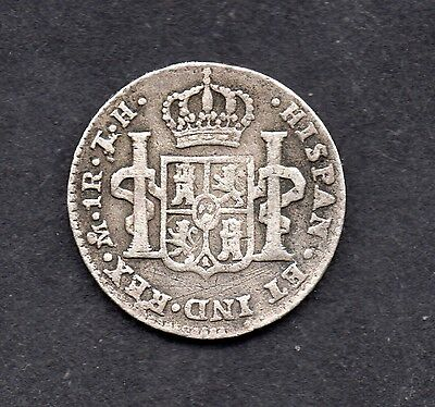 Historic Authentic 1807 Carolus 1111 Silver 1 Reales Mexico coin