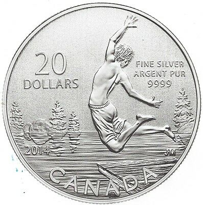 * Royal Canadian Mint - #130531 - 2014 - $20-Coin - Summertime