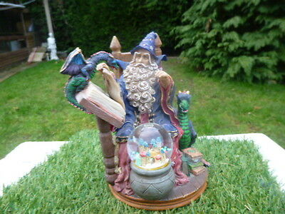 Large * Mythical Figure * Wizard * Dragons * Books & Globe * Low Reserve