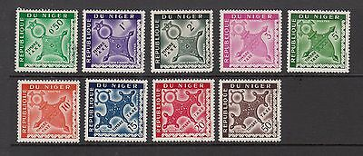 NIGER TIMBRE TAXE STAMPS UNUSED VALUES TO 50F   .Rfno.507.