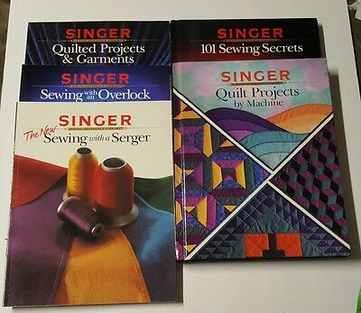 Singer Sewing Reference Library Bulk Lot Craft Books 5 Piece Set