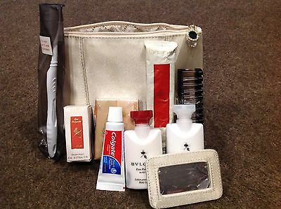 Bvlgari Emirates First Class Amenity A380 Travel Toiletry Bag & Contents