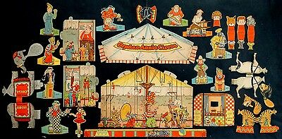 1930's Vintage LITTLE ORPHAN ANNIE CIRCUS Punch Out PAPER DOLL Set from Book