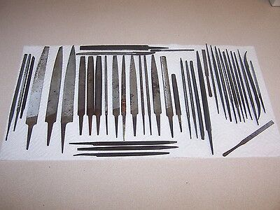 Lot of (41) Assorted Machinist Mechanic Metal Craft Files - Good Condition