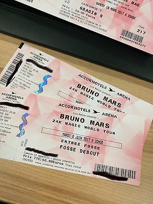 2 Places Bruno Mars Accord Hotels Arena 6 Juin