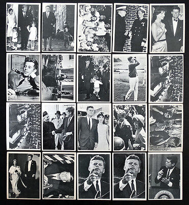 1964 TOPPS Vintage JOHN F KENNEDY / JFK Bubble CHEWING GUM Trading Card Lot