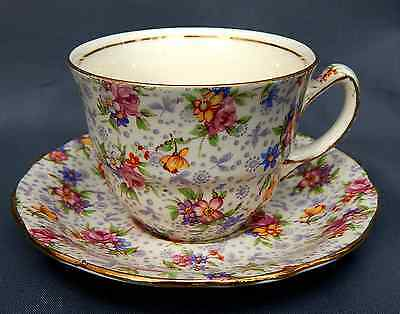 A Royal Winton, 'Eleanor' Chintz Pattern, Cup & Saucer Duo