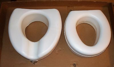"""5"""" RISER ROUND TOILET SEAT 300lb MEDLINE RAISED ELEVATED MOBILITY AID THICK"""