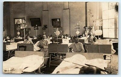 ANTIQUE Vintage WW1 GERMAN Real Photo RPPC Postcard FIELD HOSPITAL & WOUNDED