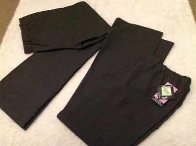 girls school trousers age 10 to 11 years grey F & F x 2 pairs NEW