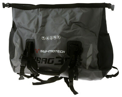 Tail bag motorcycle bag Drybag 350 Tarpaulin. Grey Black. Waterproof 35 l