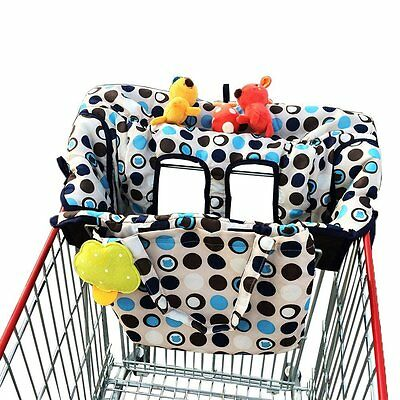 Baby Shopping Cart Cover Portable Infant Cushy Seat Toddler Safety Grocery Gear