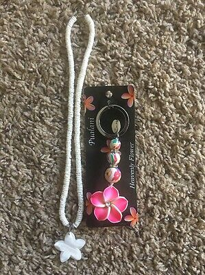 Hawaii Star Necklace And Orchid Keychain