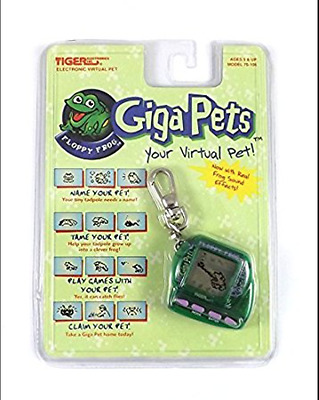 New Sealed Giga Pets Floppy Frog Electronic Pet By Tiger Virtual 1997 Green