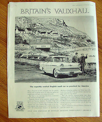 1959 British Vauxhall Ad Superbly Crafted English Small Car