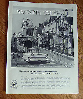 1959 British Vauxhall Ad Smartly Styled Car from the Craftsmen of England