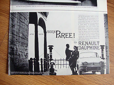 1960 Renault Dauphine Ad  After They've Seen Paree!