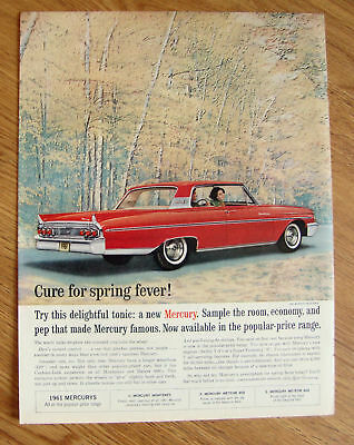 1961 Mercury Monterey Ad - Cure for Spring Fever!