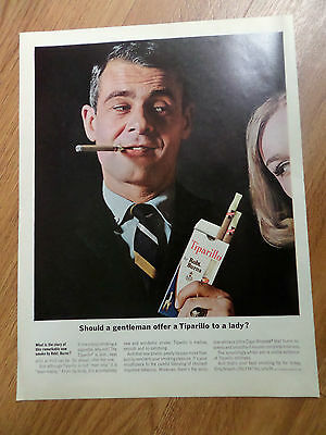 1962 Cigar Ad  Should a Gentleman offer a Tiparillo to a Lady?