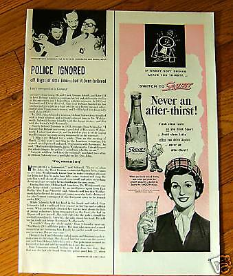 1954 Squirt Soda Bottle Ad