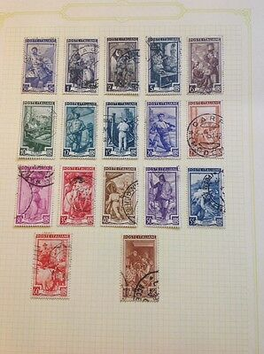 Italy stamps, part set. Occupations Used