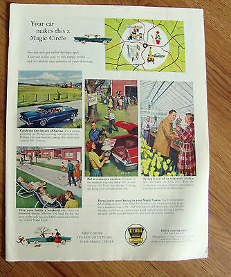 1958 Ethyl Gasoline Ad Map Country Auction Nurseries