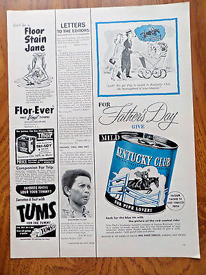 1953 Kentucky Club Pipe Tobaccos Ad Father's Day