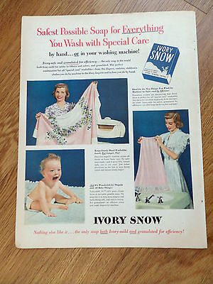 1952 Ivory Snow Laundry Soap Ad