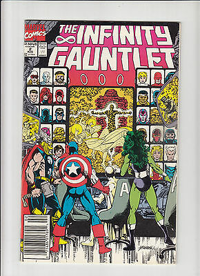 Infinity Gauntlet #2 NM - 1st print Starlin/Perez Thanos newsstand edition