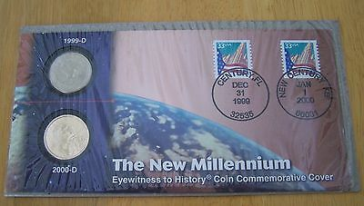 1999 & 2000 The New Millennium Eyewitness To History Coin Commemorative Cover