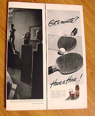 1950 Hires Root Beer Ad  Game of Ping Pong
