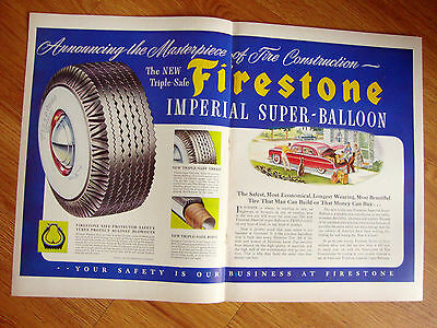 1949 Firestone Tire Ad  Imperial Super-Balloon  Packard Automobile ?