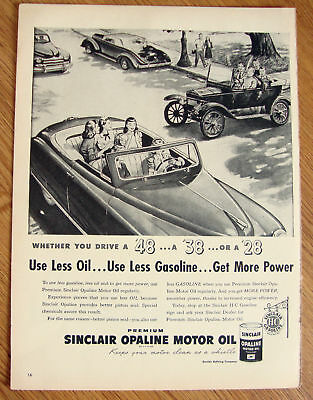 1948 Sinclair Oil Ad 1948 1938 1928 Automobiles?