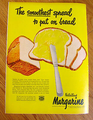 1948 Margarine Ad   The Smoothest spread to put on Bread