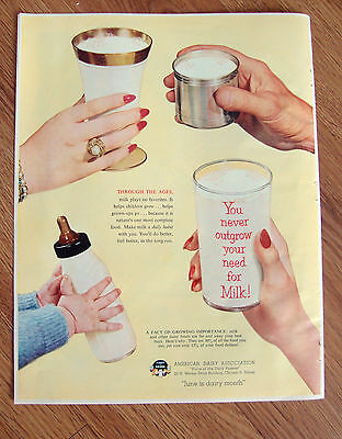 1953 American Diary Association Ad  June is Dairy Month   Milk