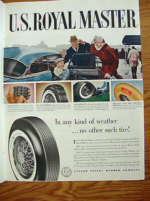 1954 US Royal Tire Ad  Ford Chevrolet Buick Plymouth Olds Cadillac Pontiac ?