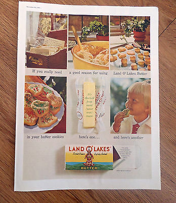 1960 Land O Lakes Butter Ad Butter Cookies