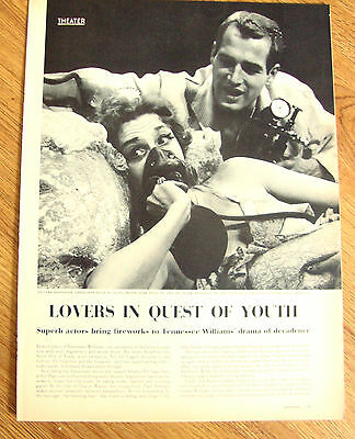 1959 Theater Movie Ad Sweet Bird of Youth Geraldine Page Paul Newman