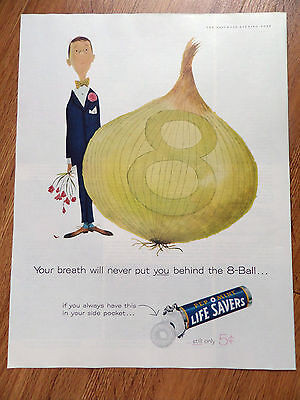 1960 Life Savers Candy Ad Behind the 8-Ball