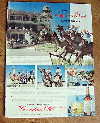 1952 Canadian Club Whiskey Ad India's Bakaner Camel 1952 Chesterfield Ad Norman