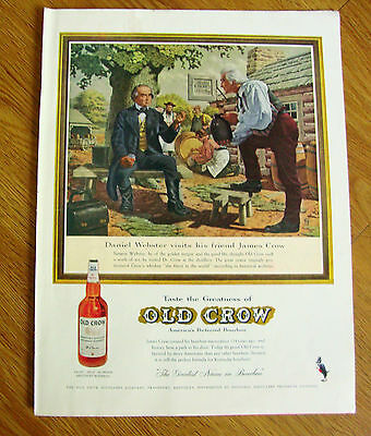 1959 Old Crow Whiskey Ad Webster Visits Distillery 1959 Coke Coca-Cola Ad
