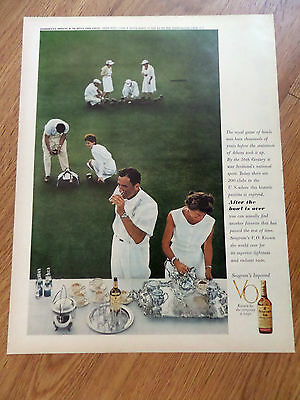 1961 Seagram's Whiskey Ad Royal Game of Bowls