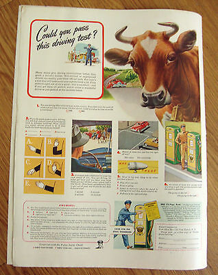 1946 Ethyl Gasoline Ad Could you pass this Driving Test?