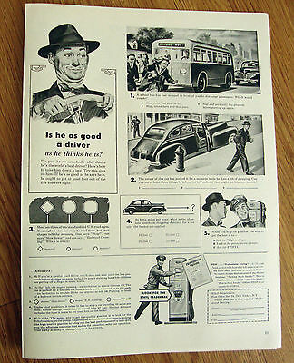 1946 Ethyl Gasoline Ad Is he as good a driver as he thins he is?