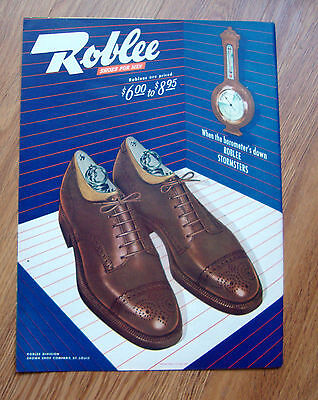 1945 Roblee Shoes Ad When the Barometer's Down Roblee Stormsters