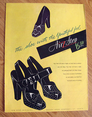1945 Air Step Shoes Ad Kitchen Caprenters Manchester CT