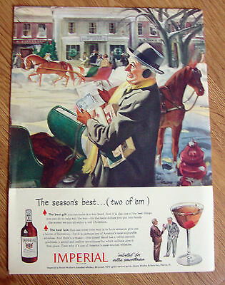 1944 Imperial Whiskey Ad Christmas Theme 1944 Pan American Ad Boeing Clipper